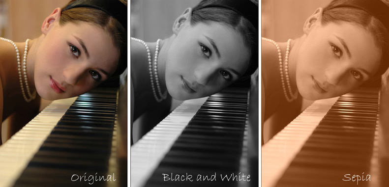 More sophisticated black and white effects can be found at funny pho to