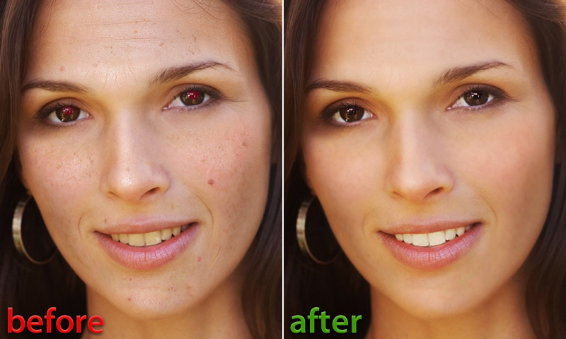 Visage Lab for Android - before and after face retouch