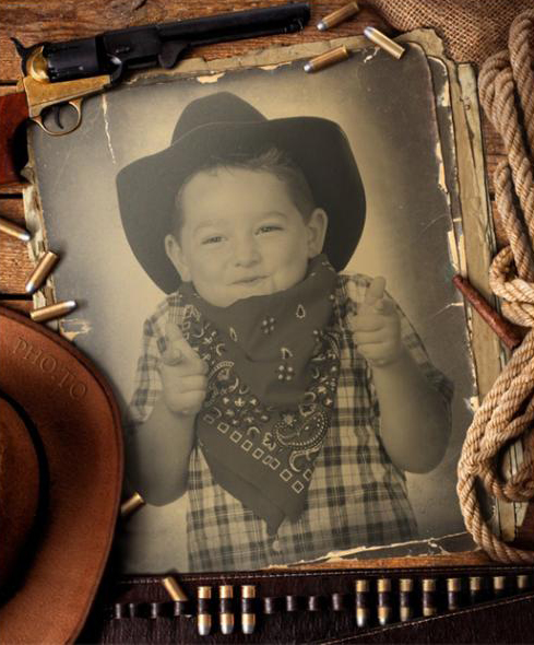 Free online cowboy photo frame