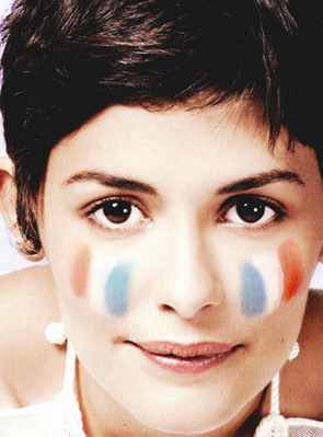 Put on flag of France as a virtual face paint