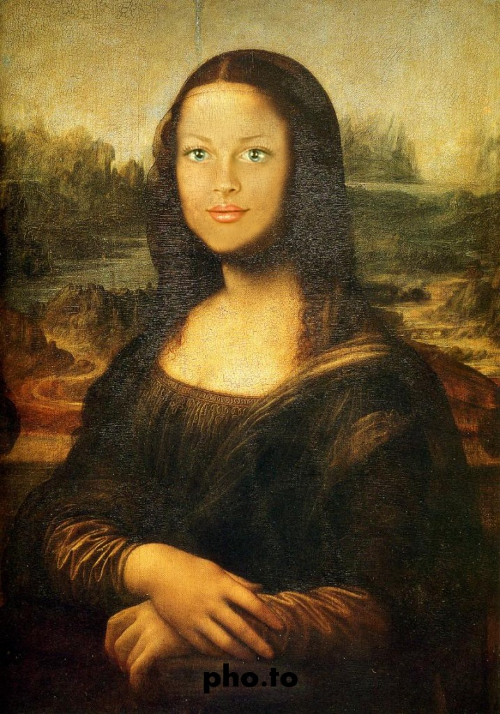 Mona Lisa face montage for all who love beautiful paintings