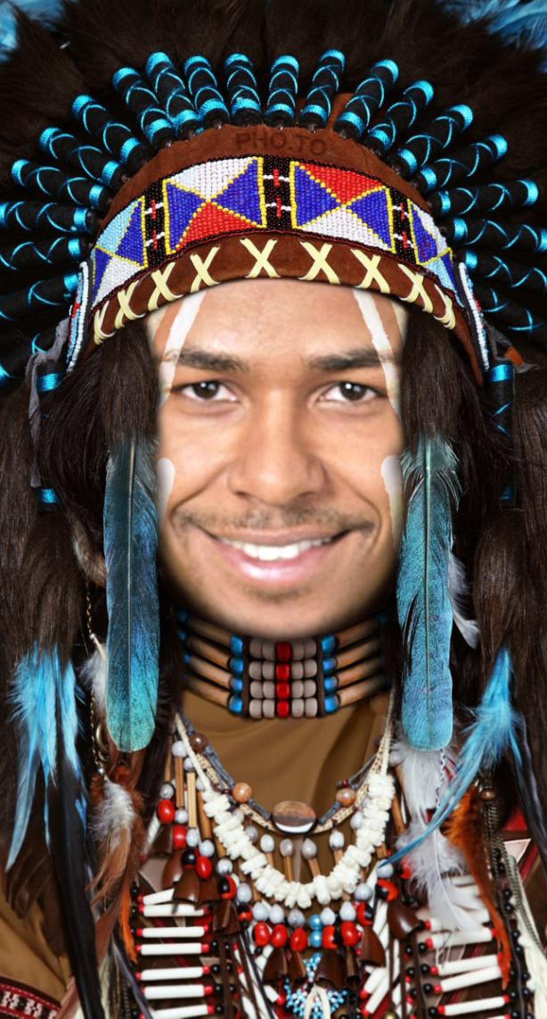 Free online Native Indian face montage