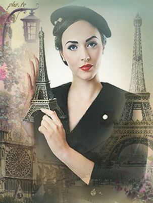 Change a photo background with scenes of Paris